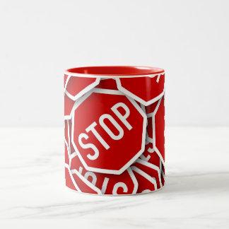 Stop Sign Two-Tone Coffee Mug