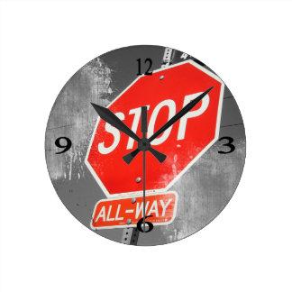 Stop Sign Wall Clocks