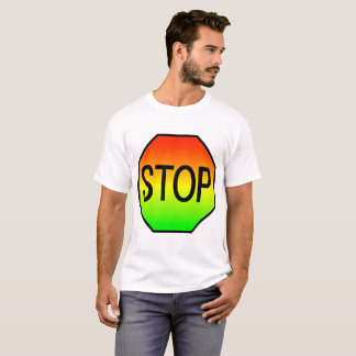 Stop Sign with Stoplight Colors T-Shirt