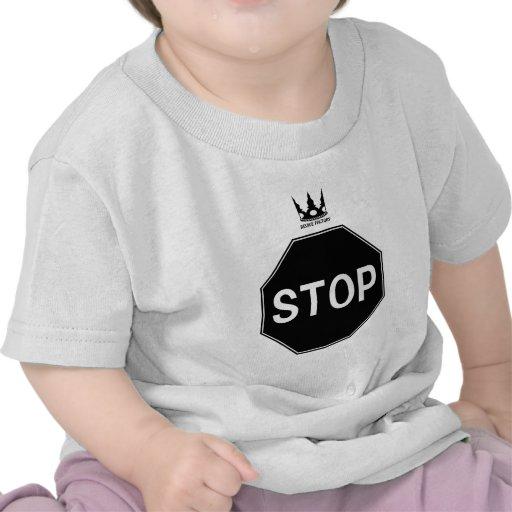 STOP signboard (black)