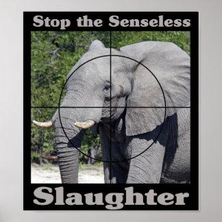 Stop Slaughter-Elephant Print
