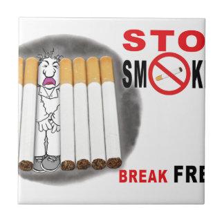 Stop Smoking Reminders - No More Butts Ceramic Tile