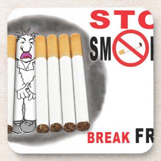 Stop Smoking Reminders - No More Butts Coaster