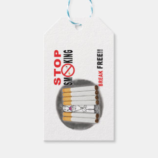 Stop Smoking Reminders - No More Butts Gift Tags