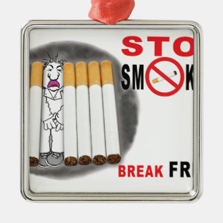 Stop Smoking Reminders - No More Butts Metal Ornament