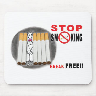 Stop Smoking Reminders - No More Butts Mouse Pad