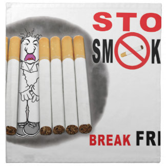 Stop Smoking Reminders - No More Butts Napkin