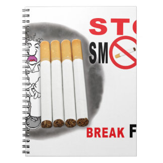 Stop Smoking Reminders - No More Butts Notebook