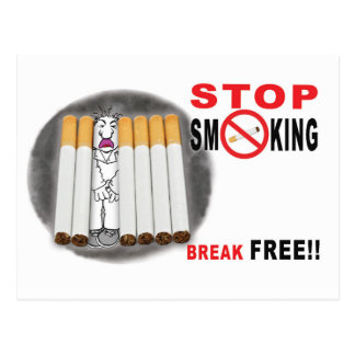 Stop Smoking Reminders - No More Butts Postcard
