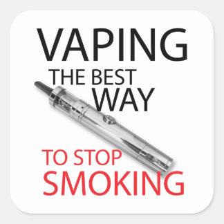 Stop smoking square sticker