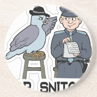 stop snitching pigeon coaster