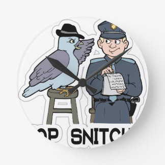 stop snitching pigeon wall clock