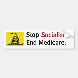 Stop Socialism - End Medicare Bumper Sticker