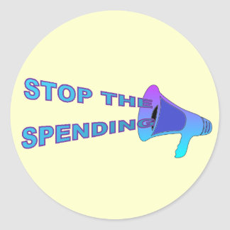 Stop Spending Sticker