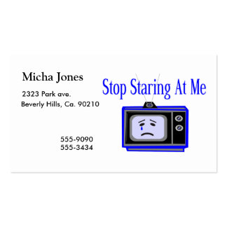 Stop Staring At Me Television Set Double-Sided Standard Business Cards (Pack Of 100)
