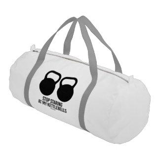 Stop Staring at my Kettlebells Gym Duffel Bag