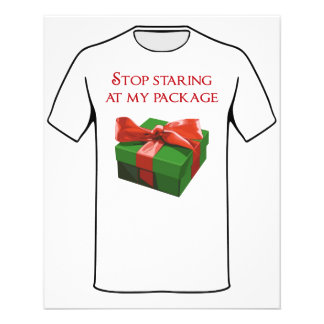 Stop Staring at my Package Christmas Present Personalized Flyer