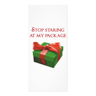 Stop Staring at my Package Christmas Present Customized Rack Card
