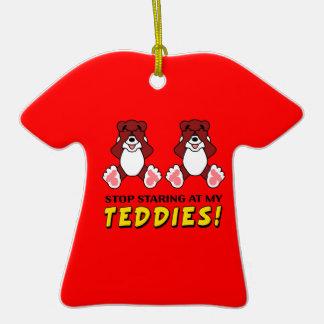 Stop Staring at my Teddies Christmas Tree Ornaments