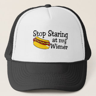 Stop Staring At My Wiener Trucker Hat