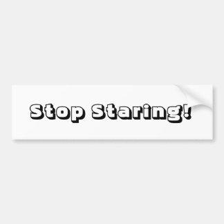 Stop Staring Bumper Sticker
