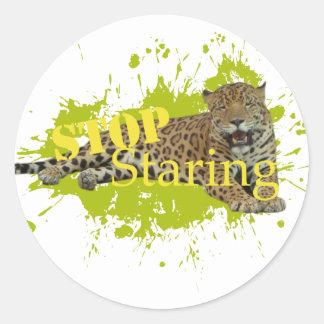 stop Staring Round Sticker