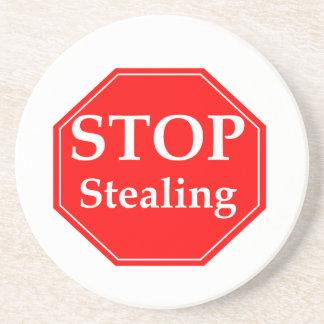 Stop Stealing Coaster