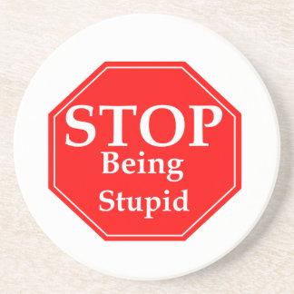 Stop Stupidity Coaster