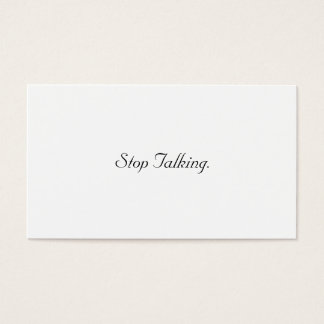 Stop Talking Cards