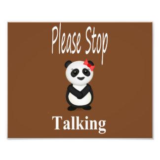 Stop Talking Panda Photo