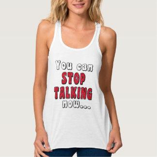 STOP TALKING #StopTalking ...Sassy Sarcasm Funny Singlet