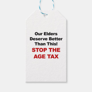 Stop the Age Tax Gift Tags