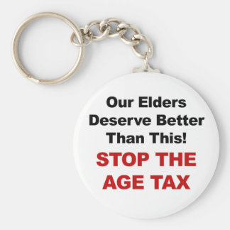Stop the Age Tax Key Ring