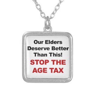Stop the Age Tax Silver Plated Necklace