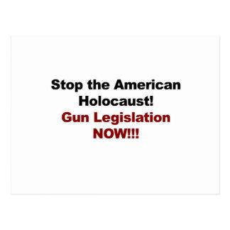 Stop the American Holocaust! Gun Control Now! Postcard