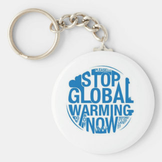 Stop The Global Warming Basic Round Button Key Ring