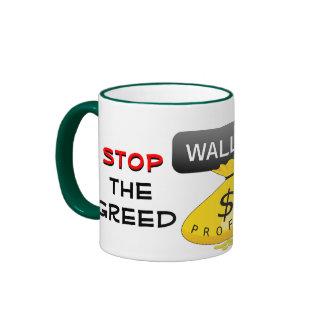 Stop the Greed mug