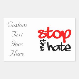 Stop the Hate Rectangular Sticker