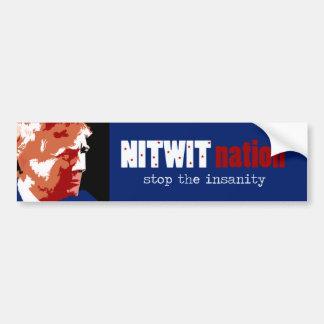 Stop the insanity bumper sticker