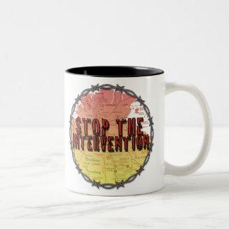 stop the intervention coffee mug