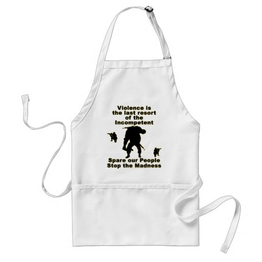 Stop the madness apron