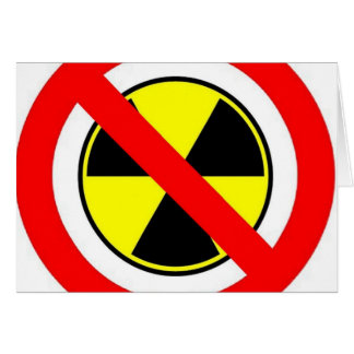 STOP THE MADNESS UNPLUG NUCLEAR POWER ! GREETING CARD