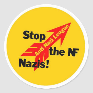 Stop the National Front Nazis! Classic Round Sticker