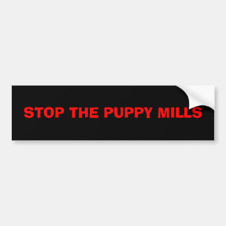 STOP THE PUPPY MILLS BUMPER STICKER