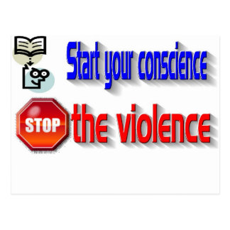 Stop the violence post cards
