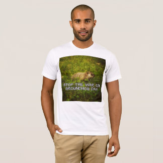 Stop the war on groundhog day T-Shirt