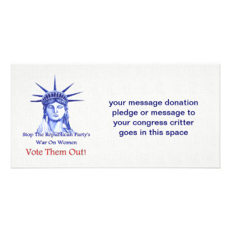 STOP THE WAR ON WOMEN PHOTO CARDS