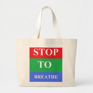 Stop-To-Breathe Jumbo Tote Tote Bags