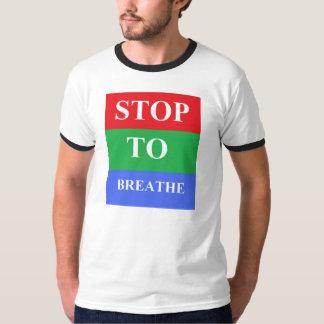 Stop-To-Breathe Men's Basic Ringer T-Shirt