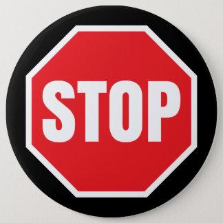 stop traffic sign 6 cm round badge